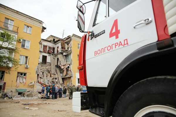 Ликвидация последствий взрыва газа в Волгограде