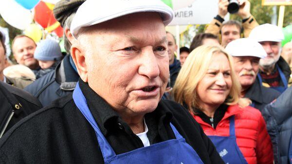 Субботник в честь бывшего мэра Москвы Юрия Лужкова