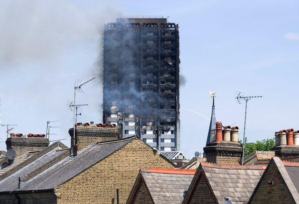 Пожар в жилом доме на западе Лондона