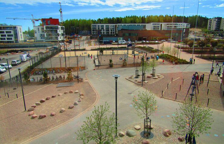 Школа Сауналахти в Эспоо, Финляндия