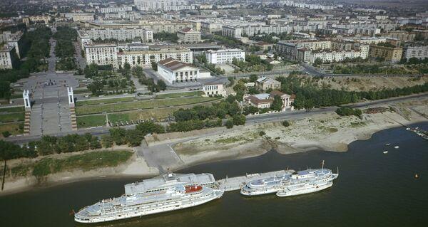 Вид на набережную города Волгограда