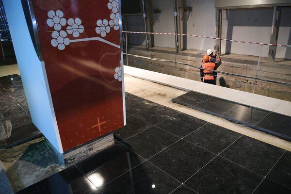 Строительство станции метро Мичуринский проспект