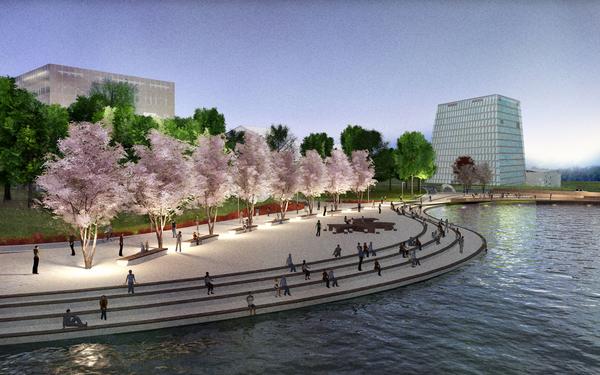 Проект центрального парка в Сколково