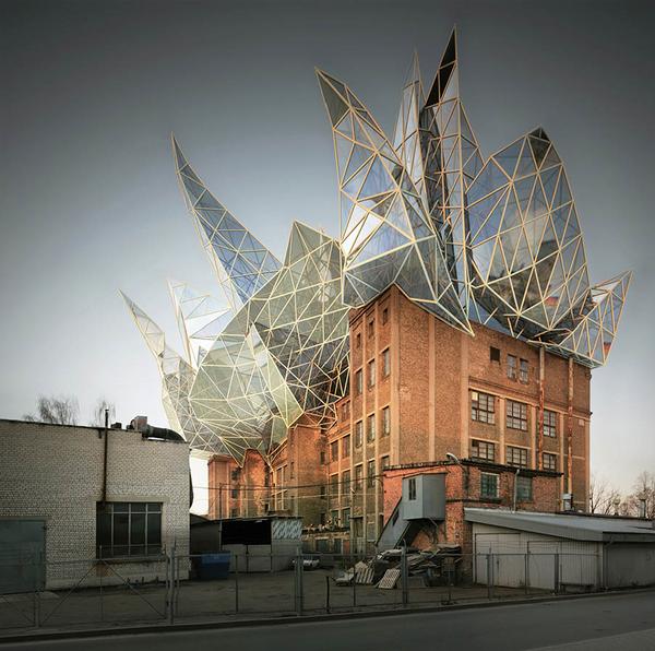 Здание VEF Remonts, Рига, 2008 год. Массивное 250-метровое кирпичное здание производственной фабрики в Риге.