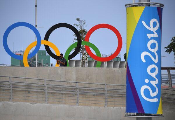 Олимпийская символика в Олимпийском парке