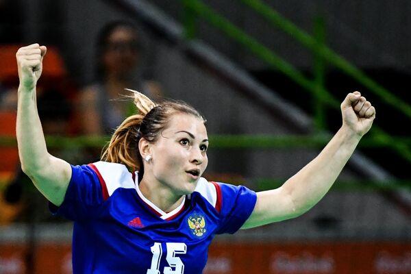 Игрок сборной России Марина Судакова