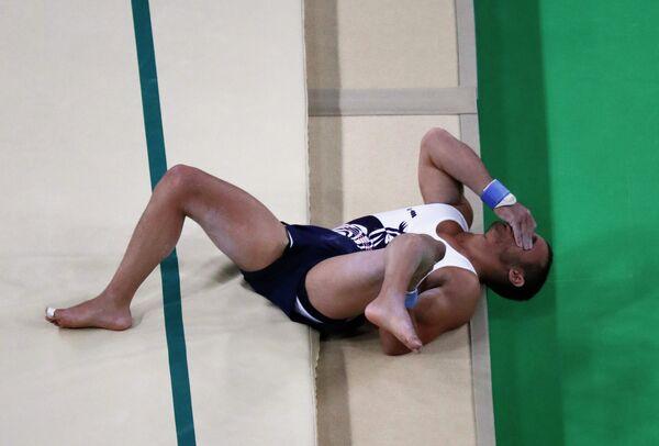 Французский гимнаст Самир Аит Саид, получивший травму на ОИ