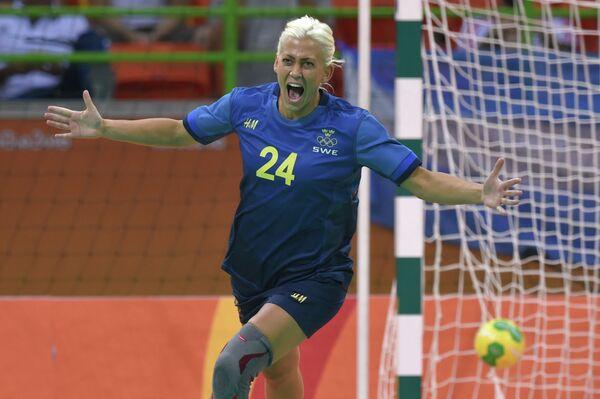 Правая крайняя женской сборной Швеции по гандболу Натали Хагман