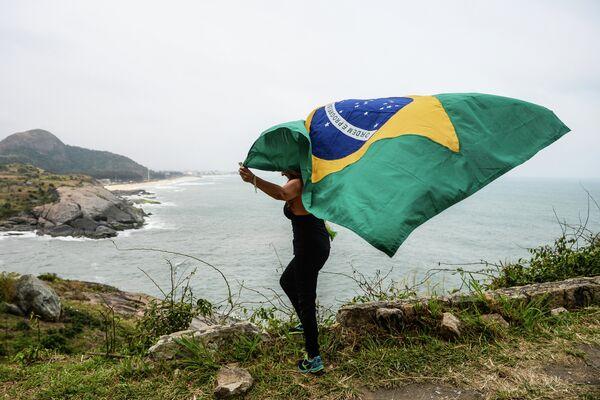 Болельщица во время летних Олимпийских игр в Бразилии