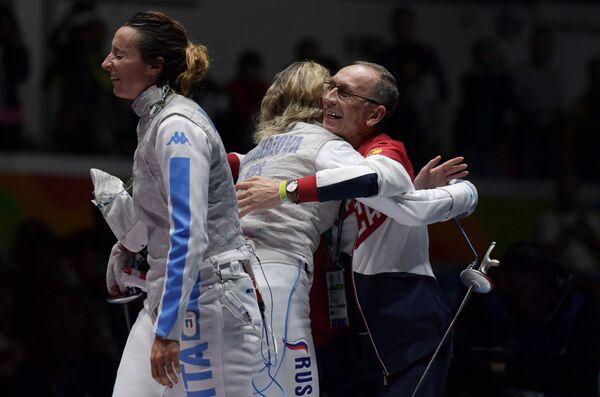 Элиза Ди Франчиска, Инна Дериглазова и Ильдар Мавлютов (слева направо)