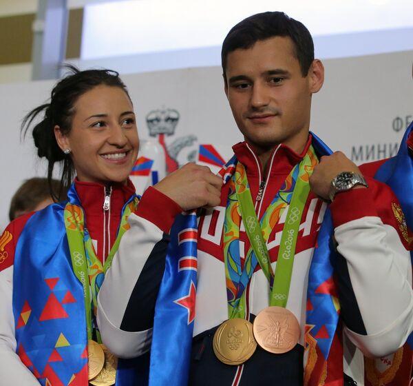 Яна Егорян и Тимур Сафин