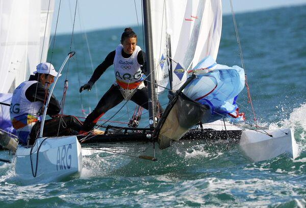 Аргентинские яхтсмены Сантьяго Ланге и Сесилия Карранза