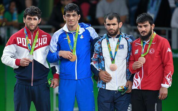 Аниуар Гедуев, Хасан Яздани, Джабраил Гасанов и Сонер Демирташ (слева направо)