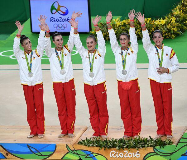 Спортсменки сборной Испании по художественной гимнастике