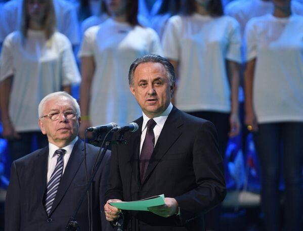 Министр спорта РФ Виталий Мутко (справа) и президент Паралимпийского комитета России Владимир Лукин