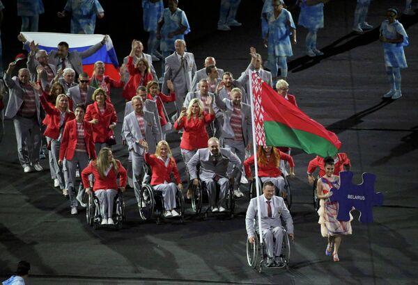 Спортсмены паралимпийской сборной Белоруссии