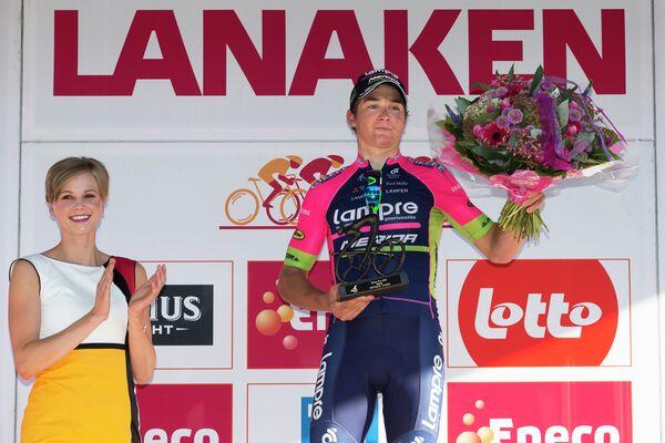 Словенец Лука Пиберник из команды Lampre-Merida