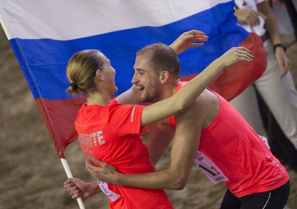 Доната Римшайте и Александр Лесун (слева направо)