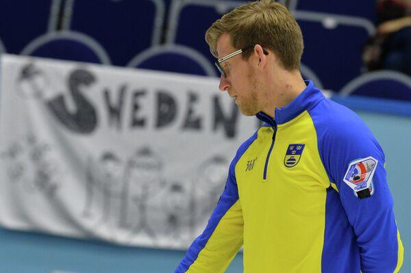 Игрок сборной Швеции по керлингу Кристиан Линдстрем
