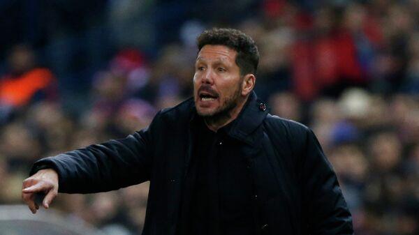 Главный тренер мадридского Атлетико Диего Симеоне