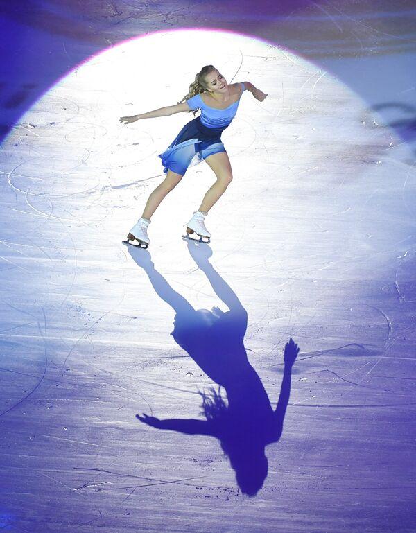 Елена Радионова во время показательных выступлений на этапе Гран-при в Пекине