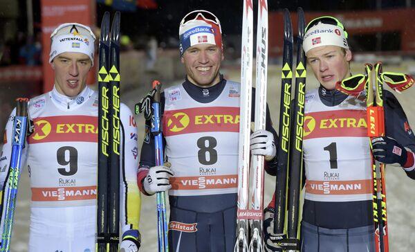Калле Хальварссон, Пол Голберг и Йоханнес Клэбо (слева направо)