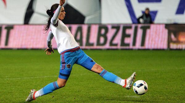 Форвард женской сборной России по футболу Надежда Карпова
