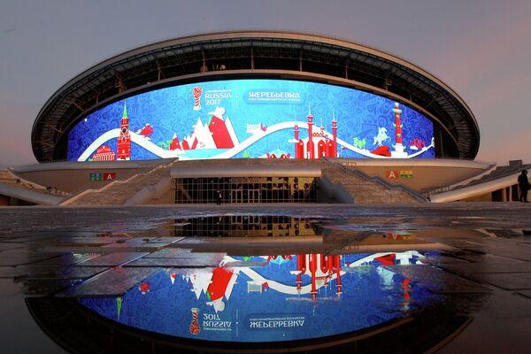 Стадион Казань-Арена, где будут проводиться матчи Кубка конфедераций и чемпионата мира 2018