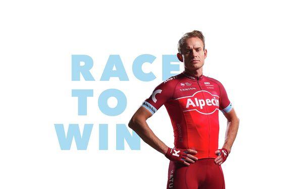 Велогонщик команды Катюша-Alpecin