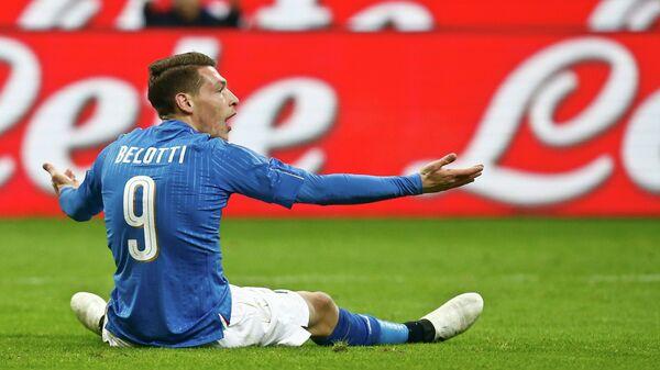 Нападающий сборной Италии по футболу Андреа Белотти