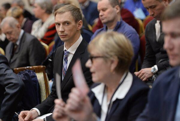 Андрей Сильнов во время отчетно-выборной конференции Всероссийской федерации легкой атлетики