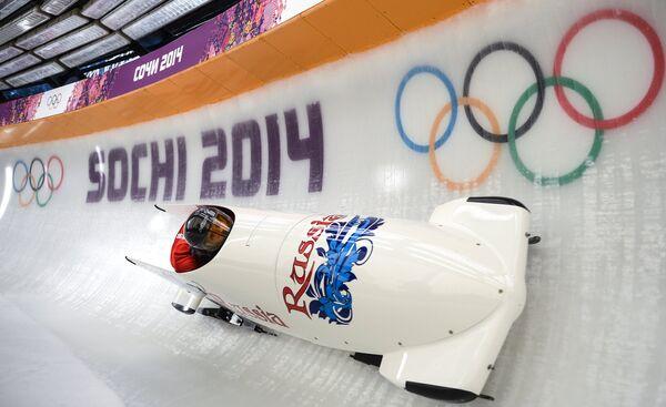 Олимпиада 2014. Бобслей. Женщины. Тренировки