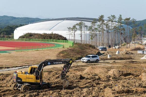 Строительство ледовой арены в Канныне к Олимпийским играм 2018 года