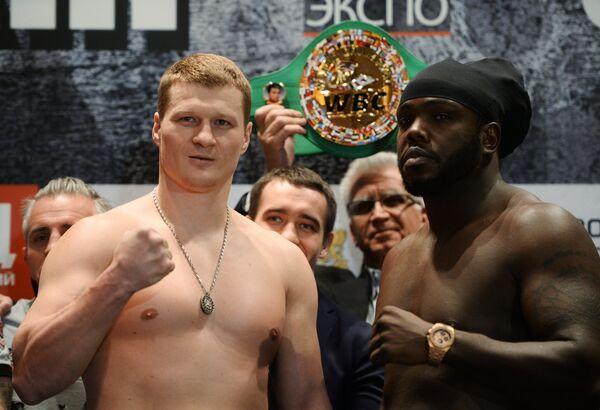 Александр Поветкин и Бермейн Стиверн (слева направо)