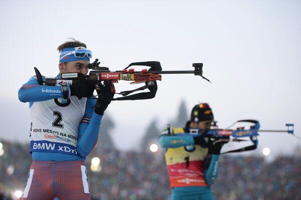 Антон Шипулин (Россия) (слева) и Мартен Фуркад (Франция)