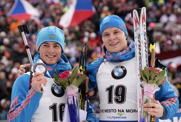 Слева направо: Антон Бабиков (Россия) и Матвей Елисеев (Россия)