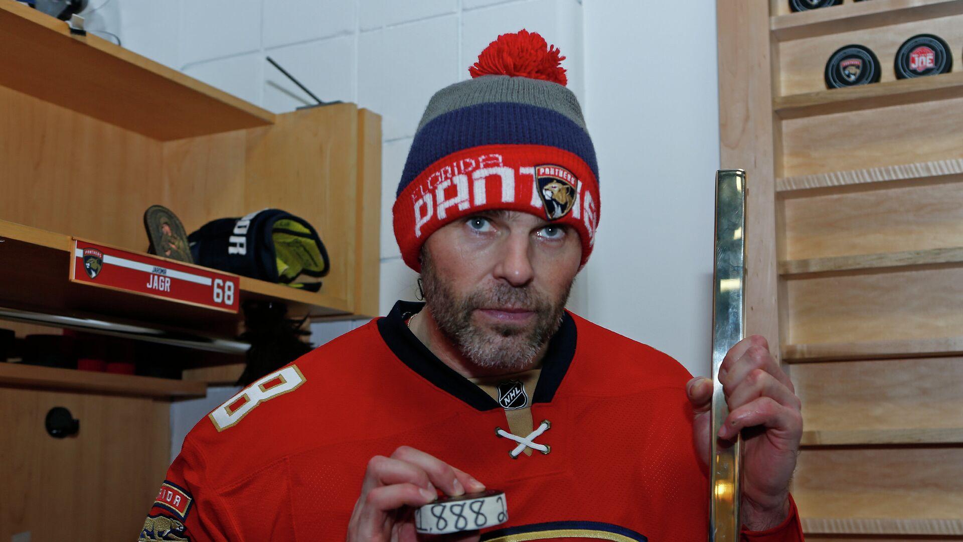 Форвард Флориды Яромир Ягр, набравший 1888-е очко в регулярных чемпионатах НХЛ - РИА Новости, 1920, 23.11.2020