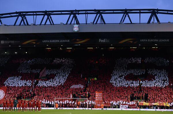 Болельщики английского Ливерпуля