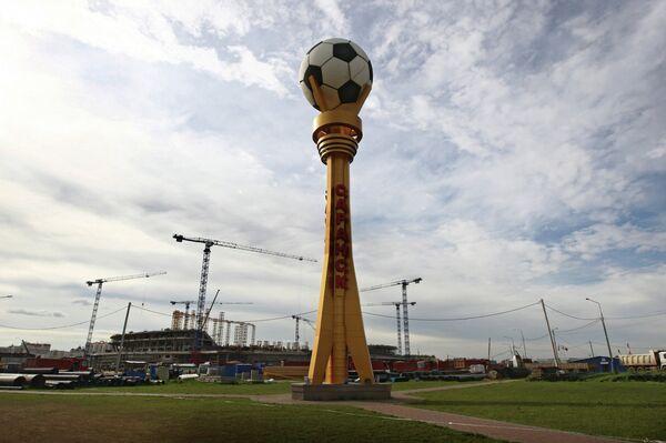 Строительство стадиона Мордовия Арена к чемпионату мира по футболу 2018 года в Саранске