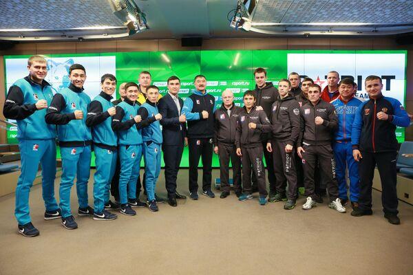 Взвешивание боксеров в преддверии матча команд Patriot Boxing Team (Россия) - Astana Arlans (Казахстан)