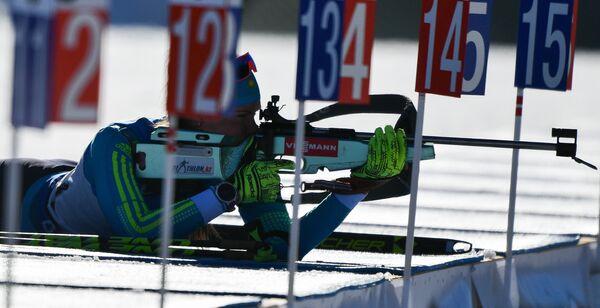 Казахстанская биатлонистка Ольга Полторанина