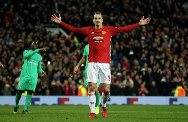 Нападающий английского Манчестер Юнайтед Златан Ибрагимович