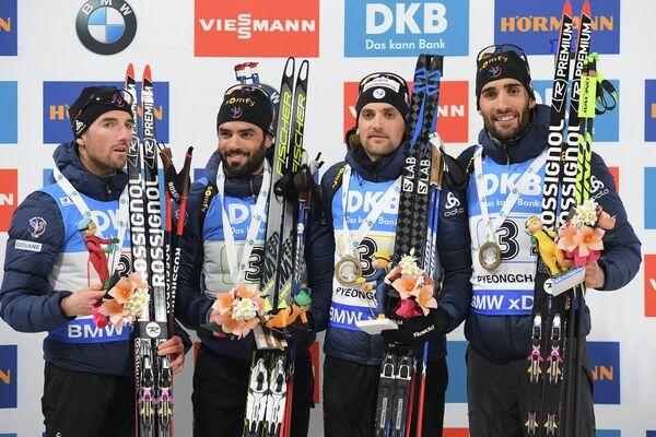 Жан-Гийом Беатрикс, Симон Фуркад, Симон Дестье, Мартен Фуркад (слева направо)
