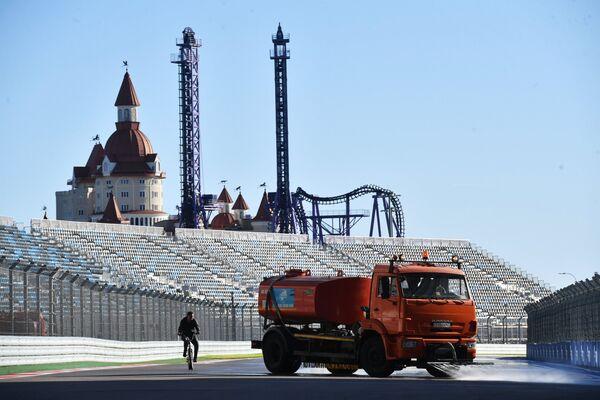 Подготовка к Гран-при России Формулы-1
