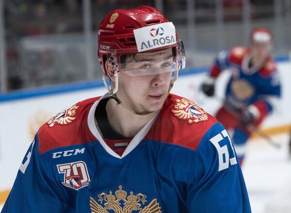Нападающий сборной России Павел Красковский