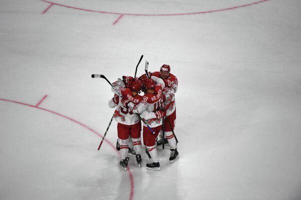 Хоккеисты сборной Дании