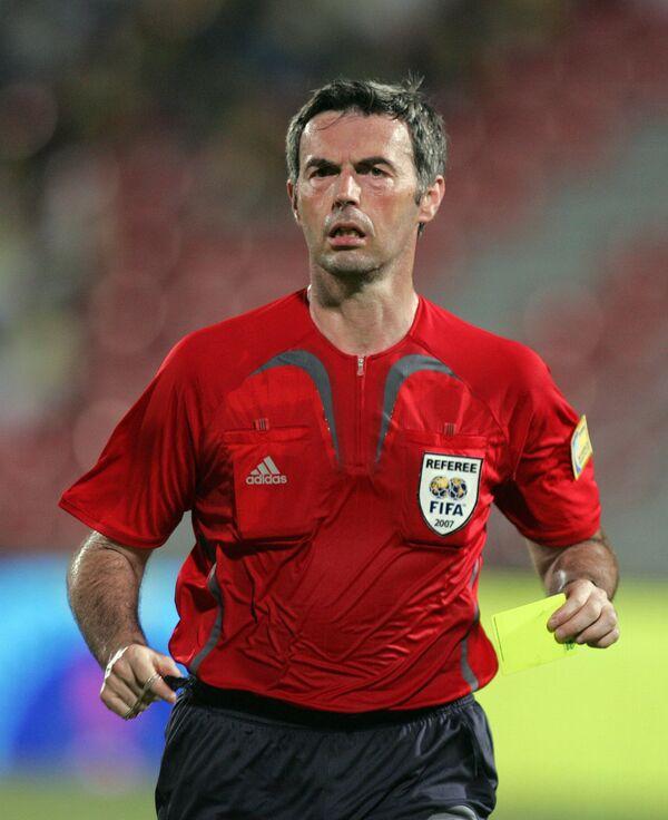 Известный итальянский футбольный арбитр Стефано Фарина