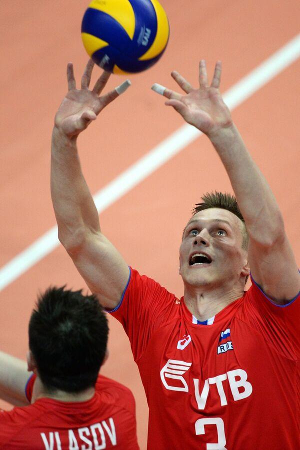 Связующий сборной России Дмитрий Ковалев