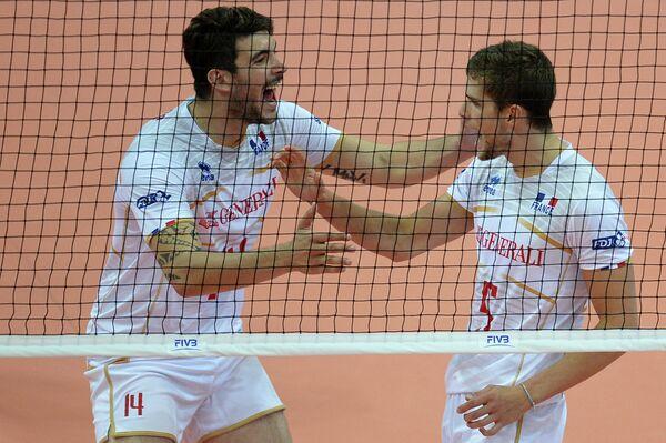 Волейболисты сборной Франции Николя Ле Гофф и Тревор Клевено (слева направо)