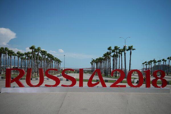 Инсталляции Russia 2018 к чемпионату мира по футболу в Сочи. Архивное фото